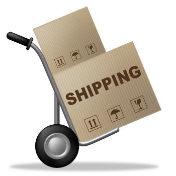 Shipping Package Indicates Delivering Parcel And Packaging