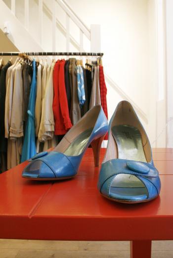 Shoe display in shop