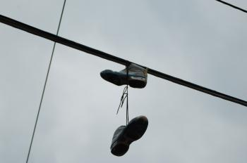 Shoes on a Pylon