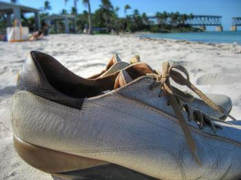 Shoes on Bahia Honda State Park
