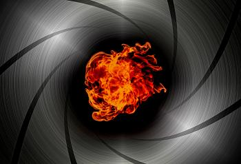 Shooting through the barrel of a gun - Flame burst