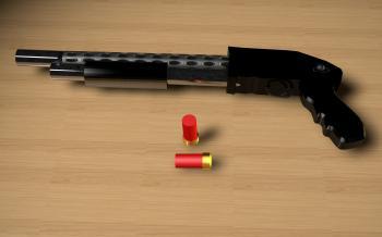 Shotgun 3D Render