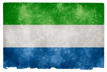 Sierra Leone Grunge Flag
