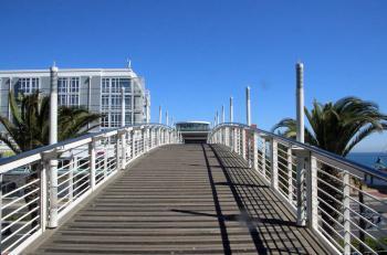 Sighting bridge on the coast
