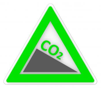 Sign Co2 Shows Carbon Footprint And Emission