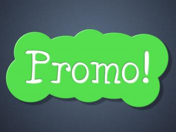 Sign Promo Means Discounts Display And Retail