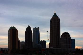 Silhouette of Atlanta skyline