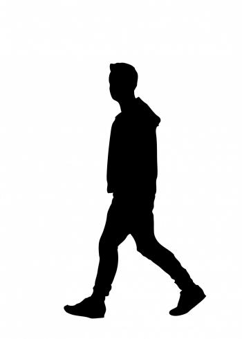 Walking man silhouette
