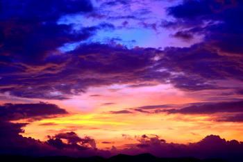 Silhouette Photo of Cumulus Clouds