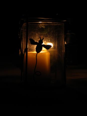 Silhouetted Candle
