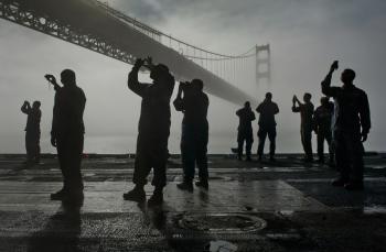 Silhouettes taking Photos