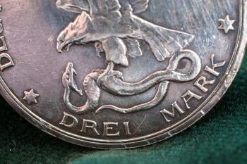 Silver Coin Bottom Close-up
