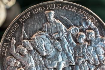 Silver Coin Closeup
