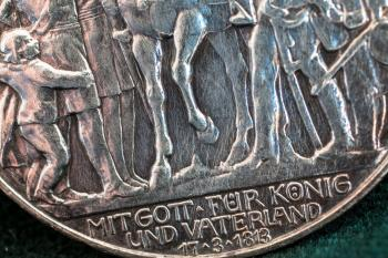 Silver Coin Up Close