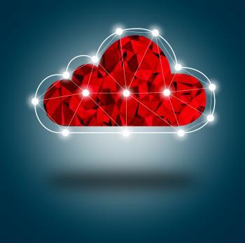 Simple Digital Cloud Concept
