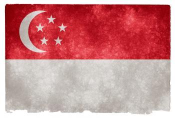 Singapore Grunge Flag