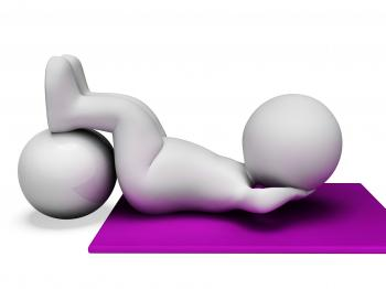 Sit Ups Represents Abdominal Crunch And Crunches 3d Rendering