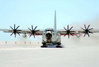 Ski Equipped Cargo Plane