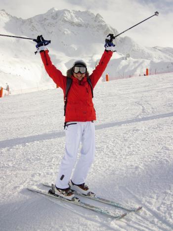 Skiing in Winter