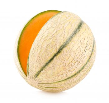 Sliced Juicy Cantaloupe