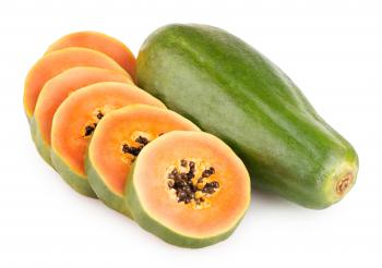 Sliced Papaya Fruit