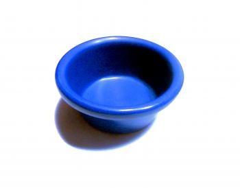 Small blue dipping cup
