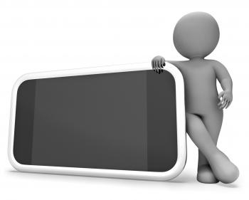 Smartphone Copyspace Shows World Wide Web And Blank 3d Rendering