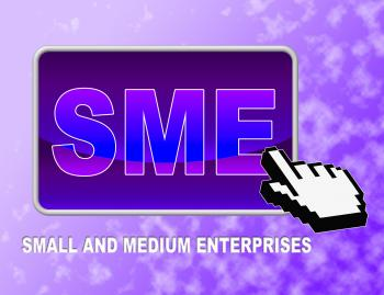 Sme Button Indicates Web Site And Business