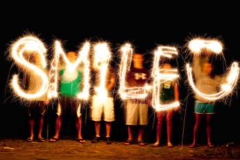 Smile - Light Painting