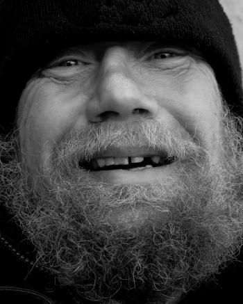 Smiling Homeless