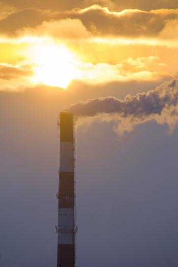 smoke and sky