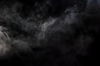 smoke on black
