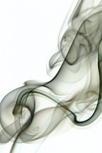 smoke on white