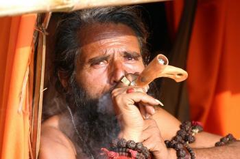 Smoking pilgrim