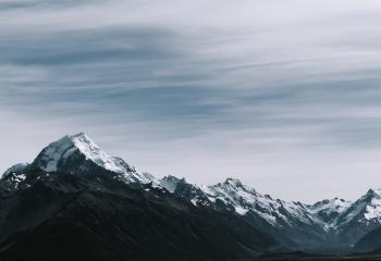 Snow-coated Rocky Mountains