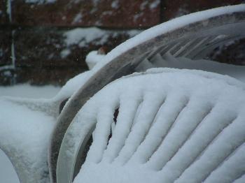 Snow on a Patio Chair