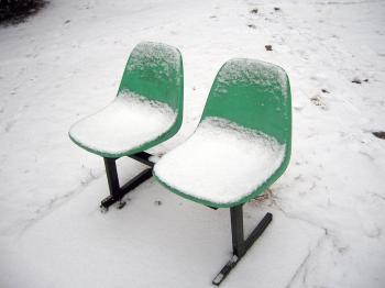 Snow on seats