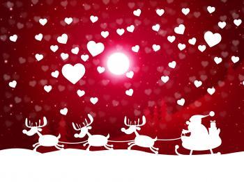 Snow Xmas Shows Merry Christmas And Celebrate