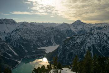 Snowcap Mountains during Sunset