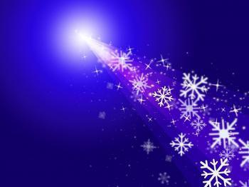 Snowflake Stars Indicates New Year And Congratulation