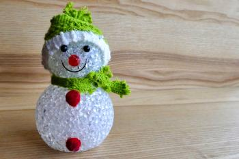 Snowman Ornament in Green
