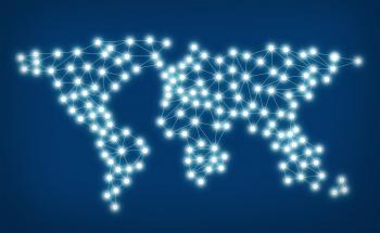 Social media network - World map