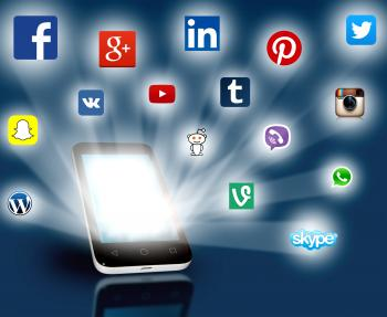 Social media networks projecting