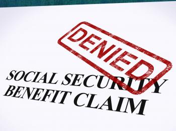 Social Security Claim Denied Stamp Shows Social Unemployment Benefit R