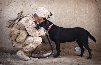 Soldier with his Pet