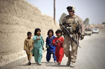 Soldier with the Kids