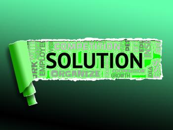 Solution Icons Represent Solving Successful And Resolution