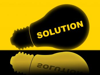 Solution Lightbulb Represents Solutions Success And Solved