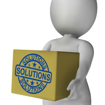 Solutions Box Means Solving Problems And Improvement