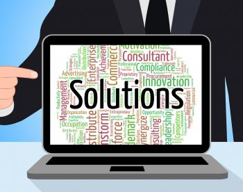 Solutions Word Represents Achievement Successful And Solve